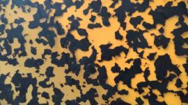 VÝPRODEJ PLOŠNÝCH DESEK Celuloid 71 cm oranž želvovina 1,5mm výložka