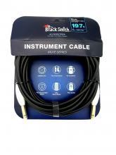 Kytarový kabel BS 6m rovný-rovný jack s vypinačem