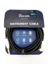 Kytarový kabel BS 6m rovný-zahnutý jack s vypinačem