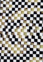 Celuloid hnědá šachovnice 2,5 mm