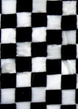 Celuloid černá šachovnice 2,5 mm